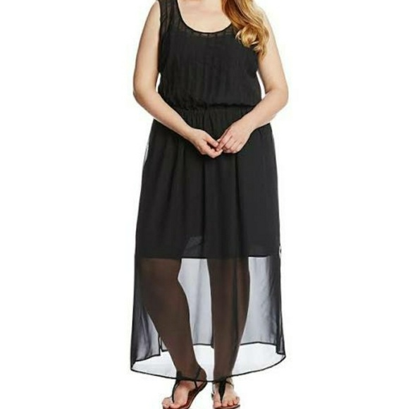 c934388a548 REDUCED Calvin Klein Plus Size Pin Tuck Maxi Dress